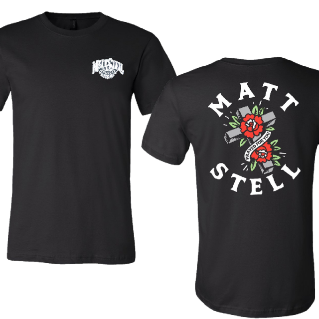 Matt Stell Unisex Black Prayed For You Tee with Logo